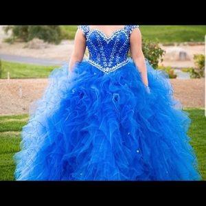 mori  lee royal blue quince dress - size 12
